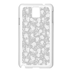 Floral pattern Samsung Galaxy Note 3 N9005 Case (White)