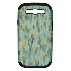Vertical Behance Line Polka Dot Grey Samsung Galaxy S III Hardshell Case (PC+Silicone)