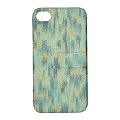 Vertical Behance Line Polka Dot Grey Apple iPhone 4/4S Hardshell Case with Stand