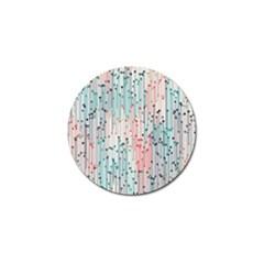Vertical Behance Line Polka Dot Grey Pink Golf Ball Marker