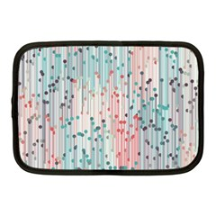 Vertical Behance Line Polka Dot Grey Pink Netbook Case (Medium)