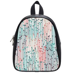 Vertical Behance Line Polka Dot Grey Pink School Bags (Small)