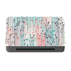 Vertical Behance Line Polka Dot Grey Pink Memory Card Reader with CF