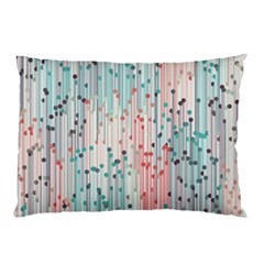 Vertical Behance Line Polka Dot Grey Pink Pillow Case (Two Sides)
