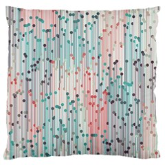 Vertical Behance Line Polka Dot Grey Pink Large Flano Cushion Case (two Sides)