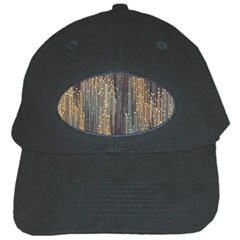 Vertical Behance Line Polka Dot Grey Orange Black Cap