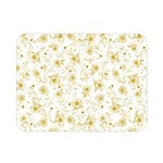 Floral pattern Double Sided Flano Blanket (Mini)  35 x27 Blanket Back