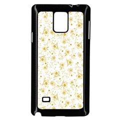 Floral pattern Samsung Galaxy Note 4 Case (Black)