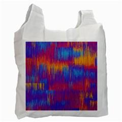 Vertical Behance Line Polka Dot Red Blue Orange Recycle Bag (One Side)