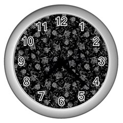 Floral pattern Wall Clocks (Silver)