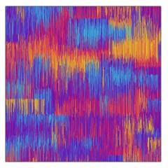 Vertical Behance Line Polka Dot Red Blue Orange Large Satin Scarf (Square)