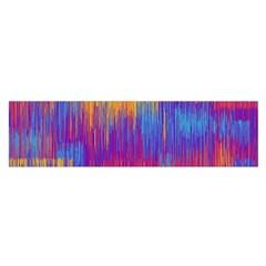 Vertical Behance Line Polka Dot Red Blue Orange Satin Scarf (Oblong)