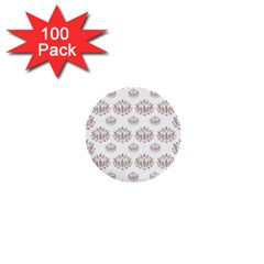 Dot Lotus Flower Flower Floral 1  Mini Buttons (100 pack)