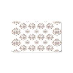 Dot Lotus Flower Flower Floral Magnet (Name Card)