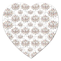 Dot Lotus Flower Flower Floral Jigsaw Puzzle (Heart)