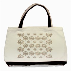 Dot Lotus Flower Flower Floral Basic Tote Bag (two Sides)