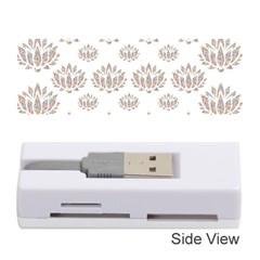 Dot Lotus Flower Flower Floral Memory Card Reader (Stick)