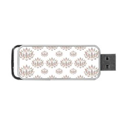 Dot Lotus Flower Flower Floral Portable USB Flash (Two Sides)