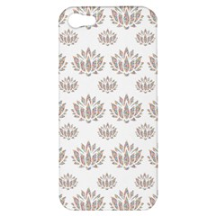 Dot Lotus Flower Flower Floral Apple iPhone 5 Hardshell Case