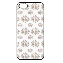 Dot Lotus Flower Flower Floral Apple iPhone 5 Seamless Case (Black)