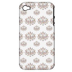 Dot Lotus Flower Flower Floral Apple iPhone 4/4S Hardshell Case (PC+Silicone)
