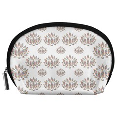 Dot Lotus Flower Flower Floral Accessory Pouches (Large)