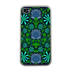 Strawberry Fantasy Flowers In A Fantasy Landscape Apple iPhone 4 Case (Clear)