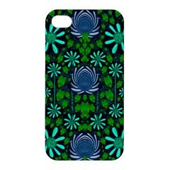 Strawberry Fantasy Flowers In A Fantasy Landscape Apple iPhone 4/4S Premium Hardshell Case
