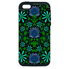 Strawberry Fantasy Flowers In A Fantasy Landscape Apple iPhone 5 Hardshell Case (PC+Silicone)