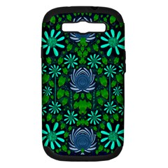 Strawberry Fantasy Flowers In A Fantasy Landscape Samsung Galaxy S III Hardshell Case (PC+Silicone)