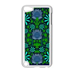 Strawberry Fantasy Flowers In A Fantasy Landscape Apple iPod Touch 5 Case (White)