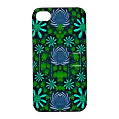 Strawberry Fantasy Flowers In A Fantasy Landscape Apple iPhone 4/4S Hardshell Case with Stand