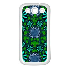 Strawberry Fantasy Flowers In A Fantasy Landscape Samsung Galaxy S3 Back Case (White)