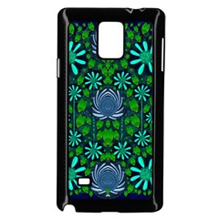 Strawberry Fantasy Flowers In A Fantasy Landscape Samsung Galaxy Note 4 Case (Black)