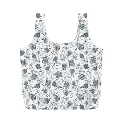 Floral pattern Full Print Recycle Bags (M)