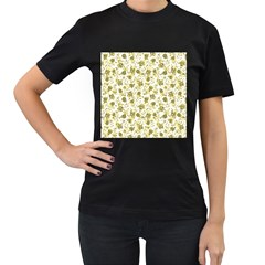Floral pattern Women s T-Shirt (Black)