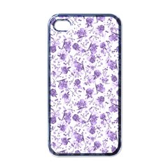 Floral pattern Apple iPhone 4 Case (Black)