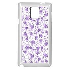 Floral pattern Samsung Galaxy Note 4 Case (White)