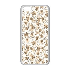 Floral pattern Apple iPhone 5C Seamless Case (White)