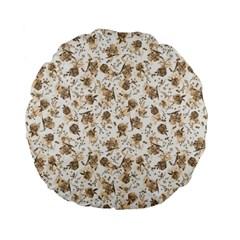 Floral pattern Standard 15  Premium Flano Round Cushions