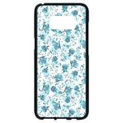 Floral Pattern Samsung Galaxy S8 Black Seamless Case