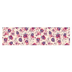 Floral pattern Satin Scarf (Oblong)