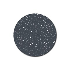 Dots pattern Rubber Coaster (Round)