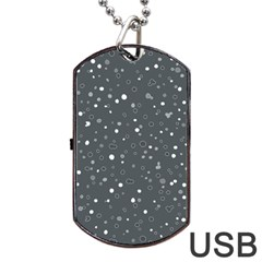 Dots pattern Dog Tag USB Flash (One Side)