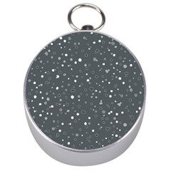 Dots pattern Silver Compasses