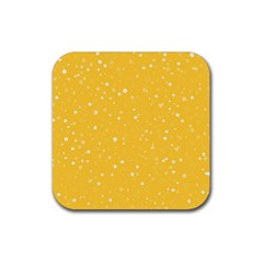 Dots Pattern Rubber Square Coaster (4 Pack)