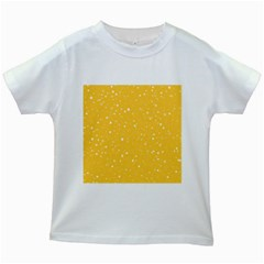 Dots pattern Kids White T-Shirts