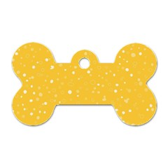 Dots pattern Dog Tag Bone (One Side)