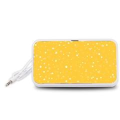 Dots pattern Portable Speaker (White)