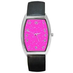 Dots pattern Barrel Style Metal Watch